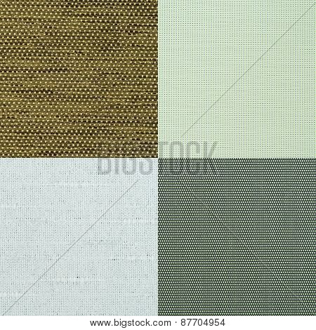 Set Of Green Fabric Samples