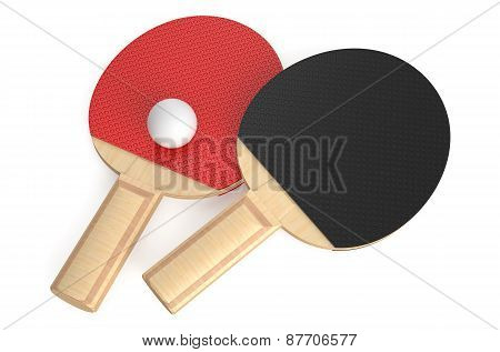Ping-pong Rackets And Ball