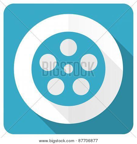film blue flat icon