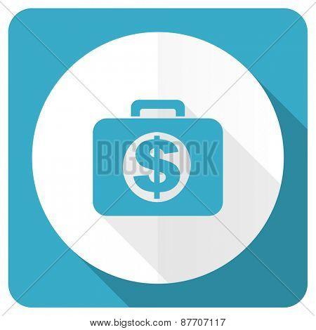 financial blue flat icon