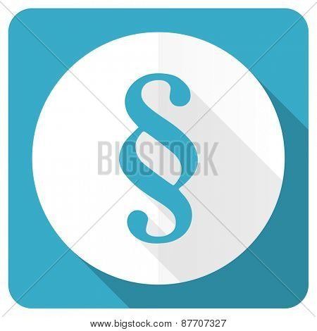 paragraph blue flat icon law sign