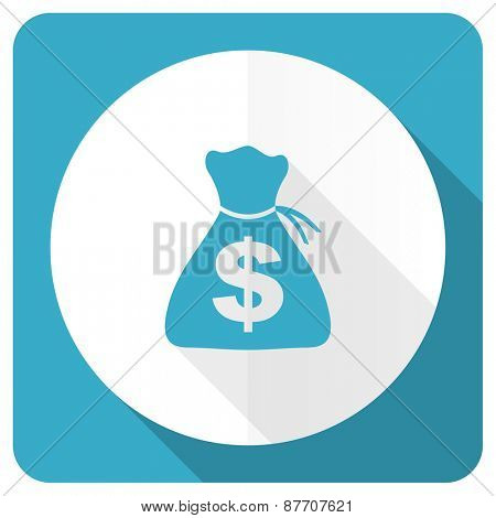 money blue flat icon