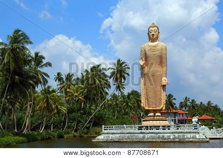Peraliya Buddha Statue, the Tsunami Memorial in Hikkaduwa, Sri Lanka