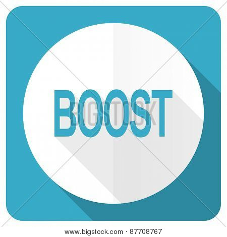 boost blue flat icon