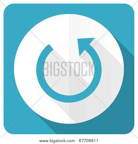 rotate blue flat icon reload sign