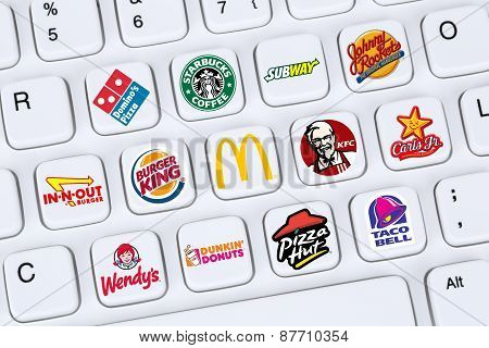 Fast Food Restaurants Like Mc Donalds, Burger King, Kfc, Starbucks, Pizza Hut