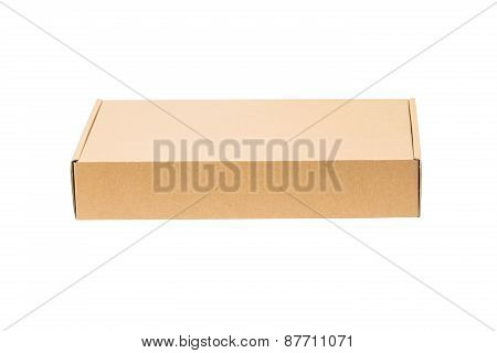 Closed Shipping Cardboard Box Isolated