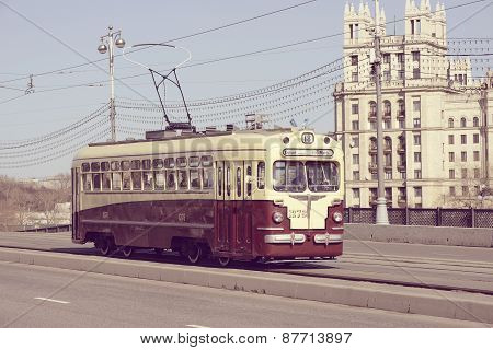 Retro Tram Goes To The Depot.
