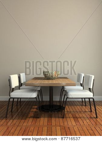 Part of the modern dining-room illustration 3D rendering
