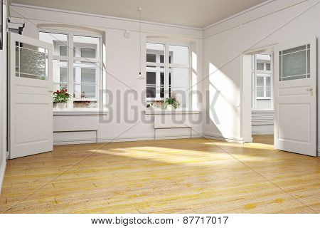 Traditional empty interior of an apartment or home