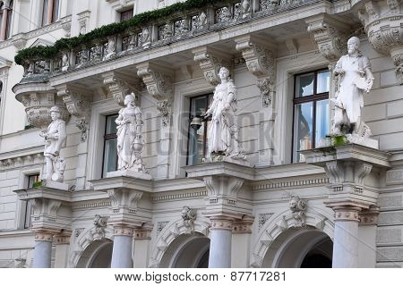 GRAZ, AUSTRIA - JANUARY 10, 2015: City Hall from Graz the capital city of Styria in Austria on January 10, 2015.