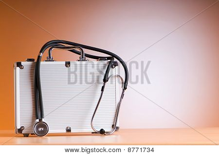 Doctor's Case With Stethoscope