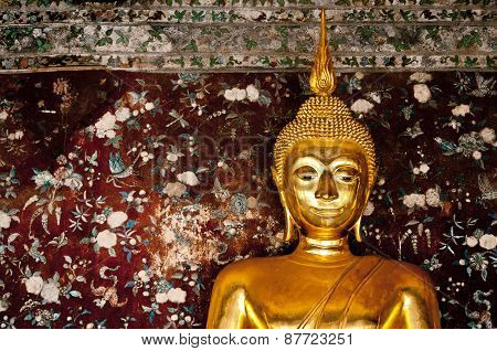 Buddha in Wat Suthat at Thailand