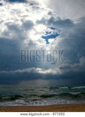 Thunder-Storm In Black Sea, Anapa