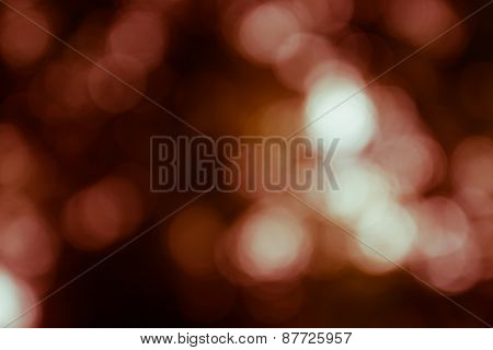 Natural Outdoors Bokeh Light Background, Green Tone In Hilight And Orange Tone In Shadow