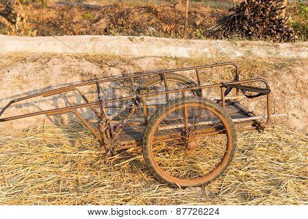 Old Wooden Handcart