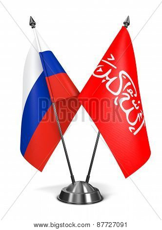 Russia and Waziristan - Miniature Flags.