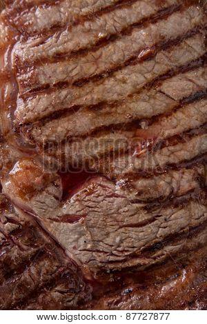 Beef tasty rump steak, macro shot.