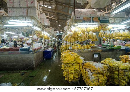 Bangkok - April 04 : Flower Market Name