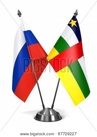 Russia and Central African Republic - Miniature Flags.