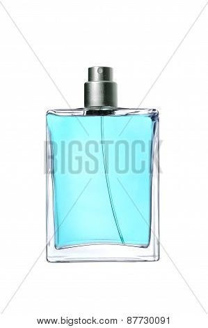 Men's Perfume In Beautiful Bottle Isolated