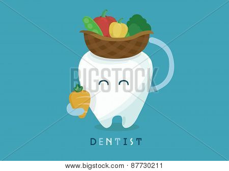 Vegetables of tooth for healthy