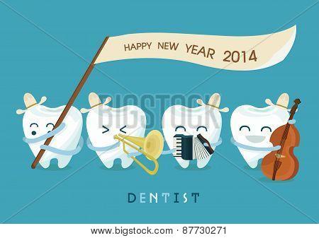 Happy new year dentist