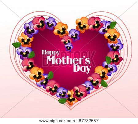 Happy Mother's Day Heart Of Heartseases