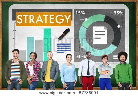 Strategy Planning Bar Graph Statistics Business Concept