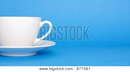 Coffee On Blue Background