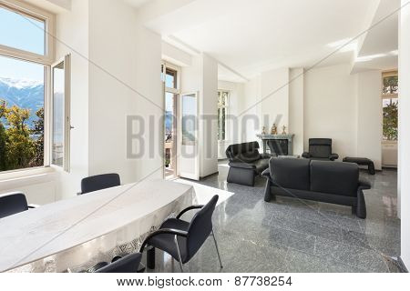 Architecture, classic apartment furnished, comfortable living room
