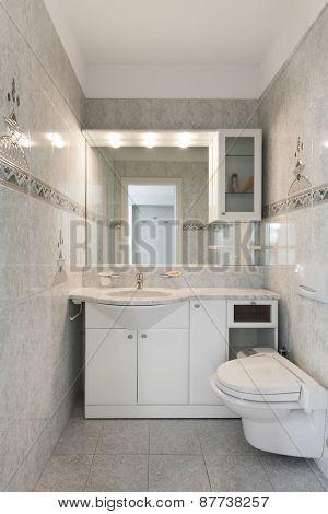 Architecture, classic apartment, bathroom view