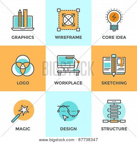 Design Development Line Icons Set