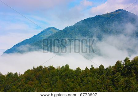 Amazing ladnscape of the Alps taken in Slovenia