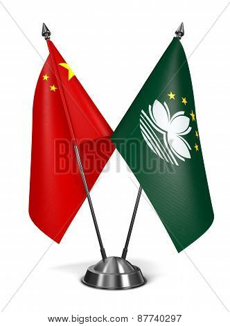 China and Macau - Miniature Flags.