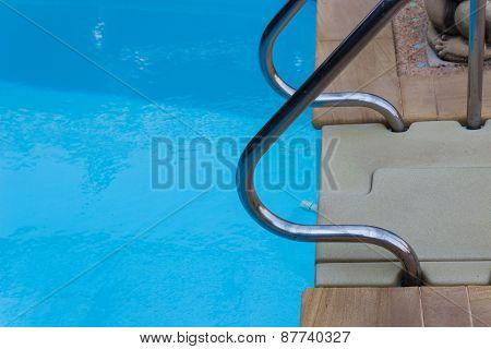 Metal Handrail At Poolside
