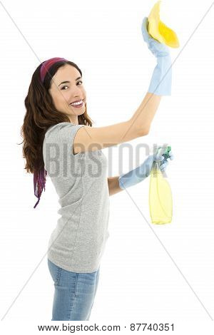 Spring Cleaning Lady