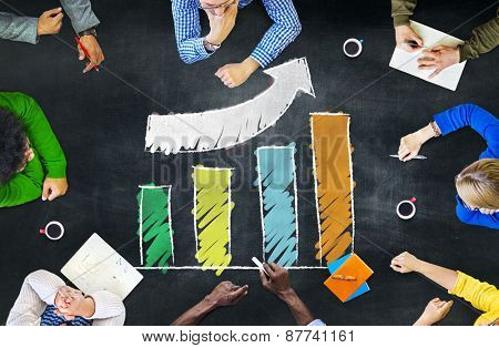 Growth Success Improvement Development Bar Graph Accomplishment Concept