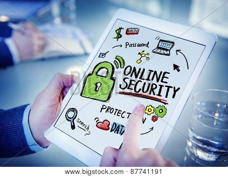 Online Security Protection Internet Safety Office Browsing Concept