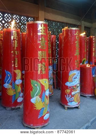 chinese new year candle