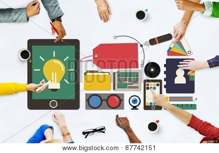 Branding Name Marketing Advertising Price Tag Concept