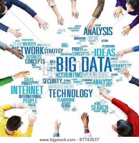 Big Data Storage Information World Map Concept