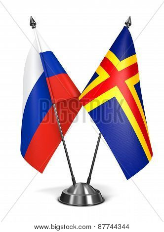 Russia and Aland - Miniature Flags.