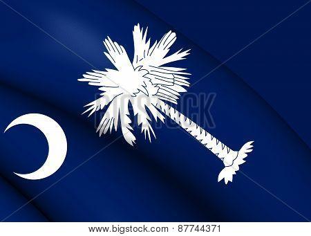 Flag Of South Carolina, Usa.