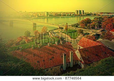 Cityscape In Novi Sad, Serbia, In Sunset Light 1