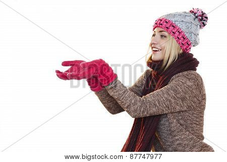 Woman Raising Her Hands