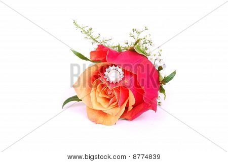 Ring inside rose