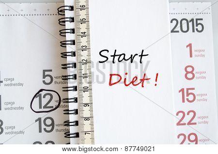 Start Diet Concept
