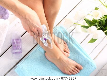Female legs goals manual razor