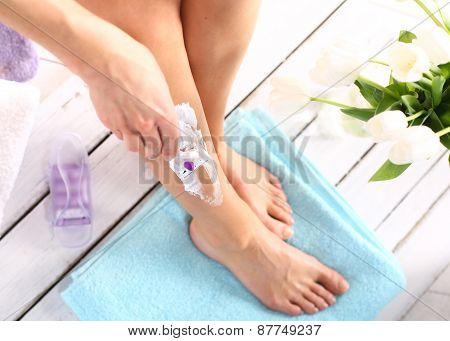 Female legs goals manual razor